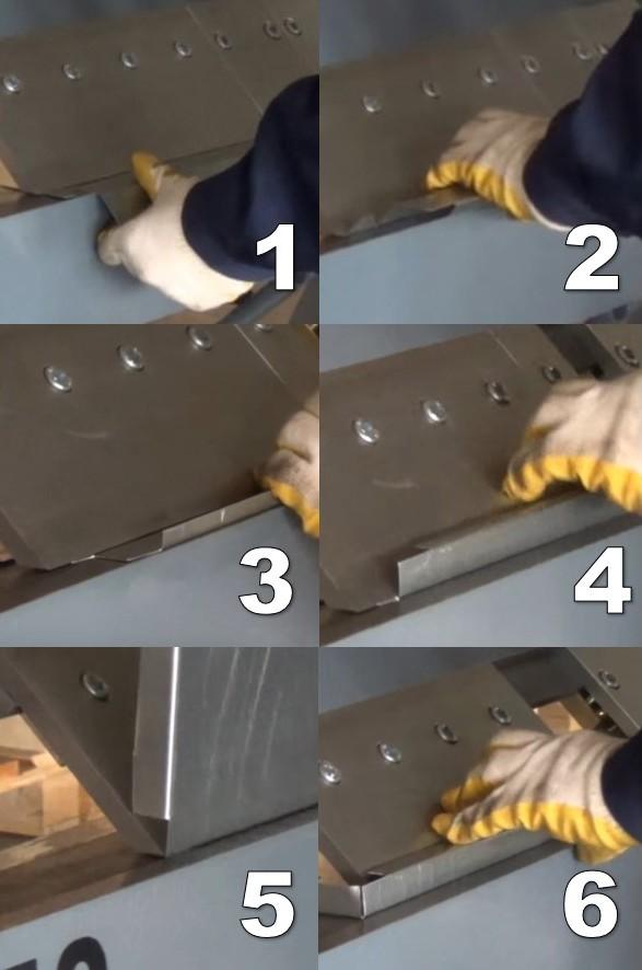 Процесс изготовления фасадной кассеты закрытого типа